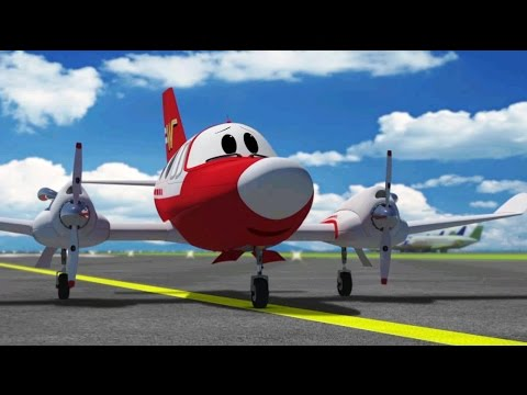 Cartoons about cars and planes - The Airport Diary - Winky comes to Fluffy airport (cartoon 1)