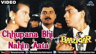 Download Chhupana Bhi Nahin Aata Full Video Song | Baazigar | Shahrukh Khan, Kajol | Vinod Rathod Mp3 and Videos