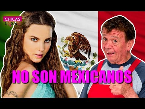 FAMOSOS que CREÍSTE MEXICANOS pero NO LO SON