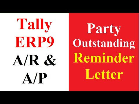 11 Party Outstanding Reminder Letter