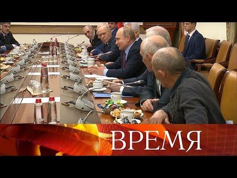 Смотреть В.Путин провел в Дагестане совещание и встретился с представителями общественности республики. онлайн