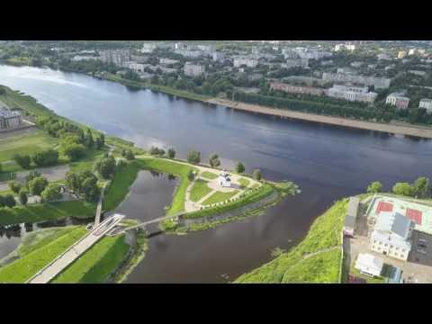 Летаем в...Твери No 7. Тверь, Центр, реки Тьмака и Волга.avi
