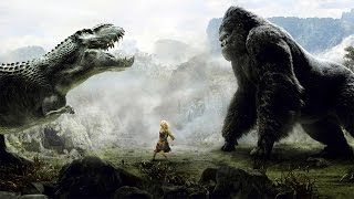 King Kong vs T-Rexes - Fight Scene - Kong Battles the T-Rex - Kong ...