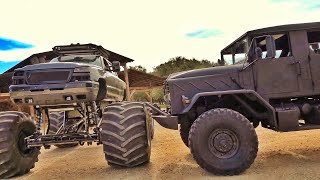 Military Truck vs Monster Truck