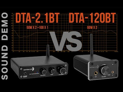 Dayton Audio Amplifier Shootout | DTA-2.1BT vs. DTA-120BT | Sound Demo from YouTube · Duration:  11 minutes 31 seconds