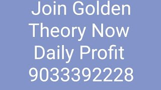 Crude oil Profit |Join Golden Theory