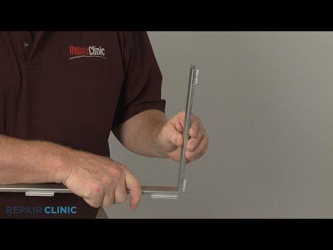 Lower Door Glass Frame - Kitchenaid Double Oven Gas Range (Model #KFGD500ESS04)