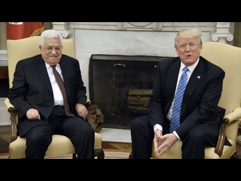 Palestinian Leader Abbas Meets with Trump, Praising Him