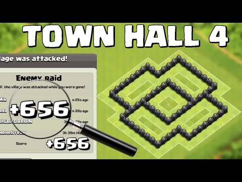 Clash Of Clans Town Hall 4 Best Defense Coc Th4 War Base Layout