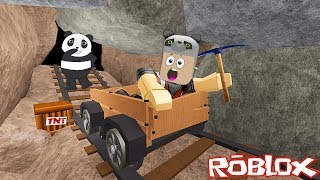 Madenden Kaçış!! - Panda ile Roblox Escape The Mine Obby!