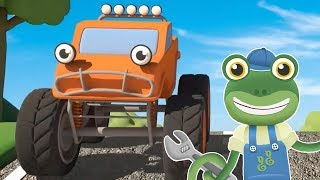 Gecko's Garage - Max The Monster Truck | Learning For Toddlers | Construction Vehicles For Kids