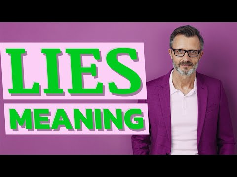 Lies | Meaning of lies - YouTube
