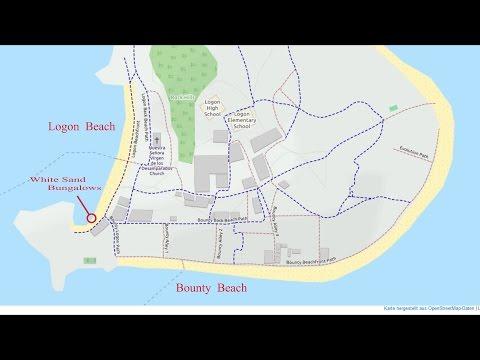 Philippines 2016 Malapascua Island  around the Island ,GPS Routenanimation Maps + english subtitel