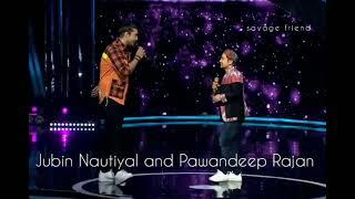Jubin nautiyal and Pawandeep Rajan stage share Thumb