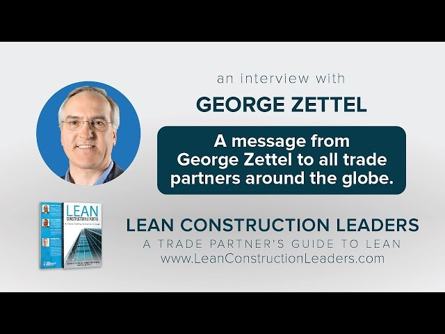 A message from George Zettel