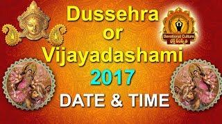 Dussehra 2017 or Vijayadashami Date & Time