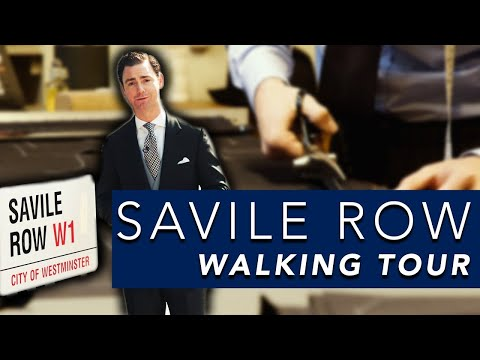 London Savile Row Walking Tour | Huntsman V Henry Poole V Anderson & Sheppard House Style Comparison