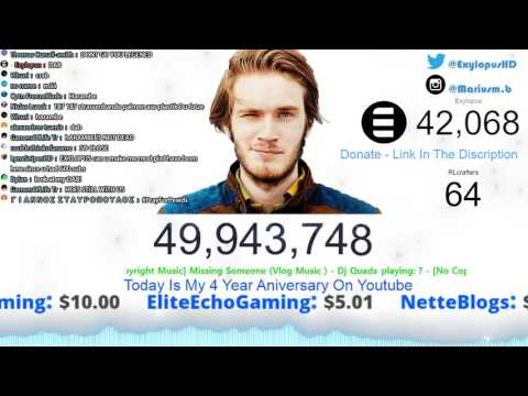 PewDiePie 50 Million!!! - Live Sub Count ►Is this The End Of Pewds?