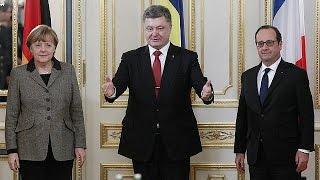 مبادرة سلام في أوكرانيا يعرضها هولاند وميركيل في كْييف ثم موسكو
