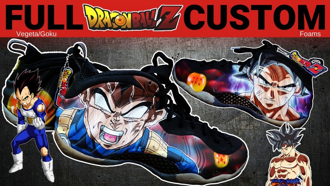 sports shoes 086c1 8e1af Full Custom   Ultra Instinct Dragon Ball Z Foams by Sierato