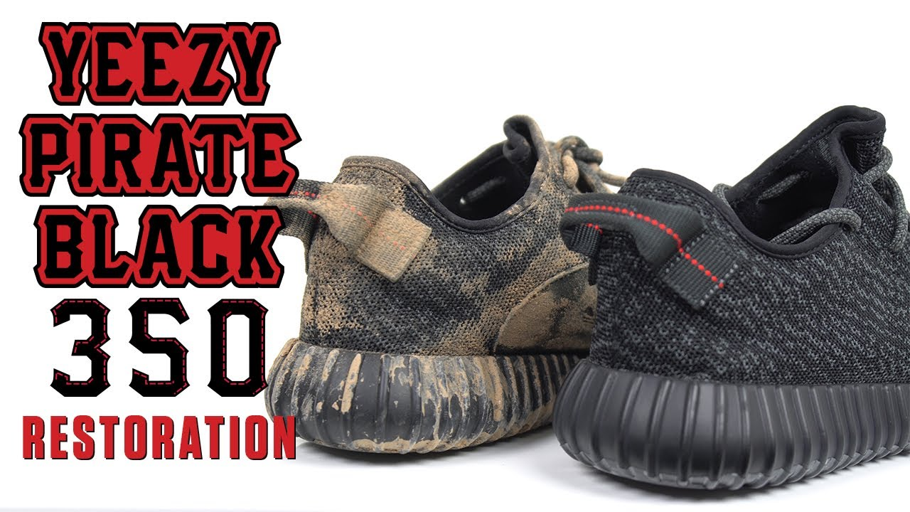 e3d0589216b96f Yeezy 350 Pirate Black Restoration - YouTube