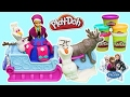 Play Doh Disney Frozen Sled Adventure Playset with Princess Anna Sven and Olaf!