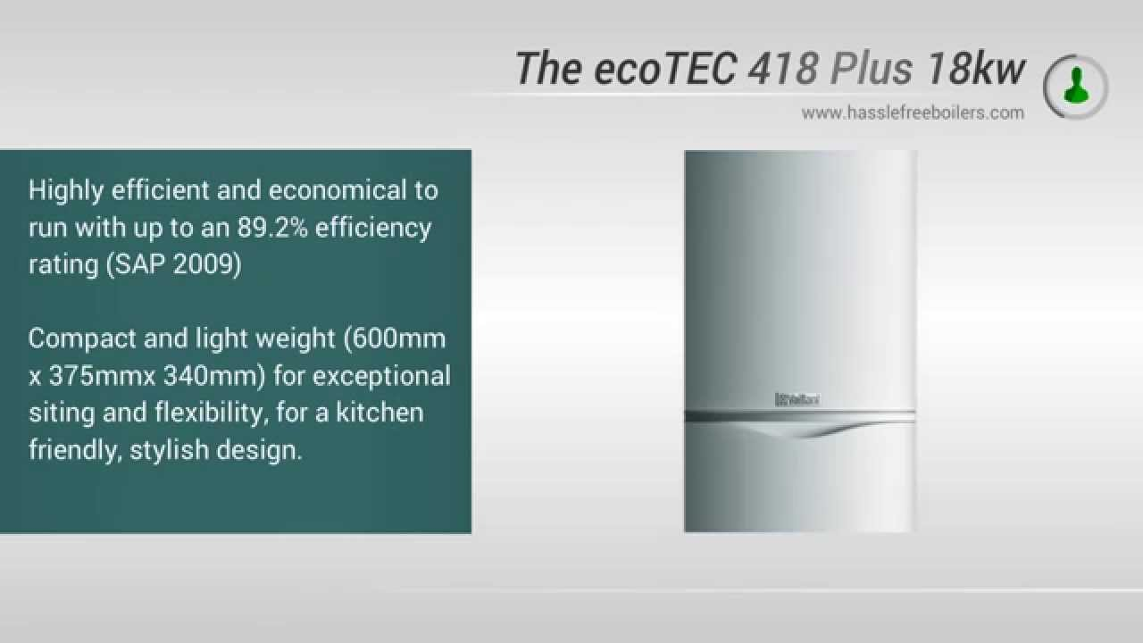 Vaillant 418 ecoTEC 18kw System Boiler Video Review - YouTube