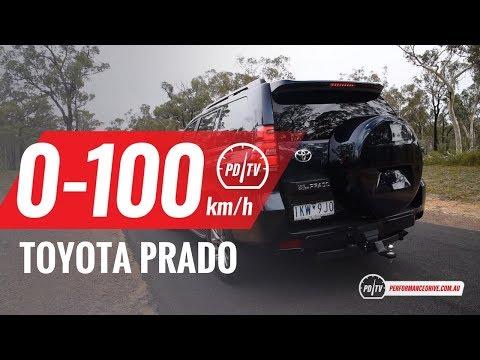 2018 Toyota Prado 0-100km/h & engine sound (manual vs auto)