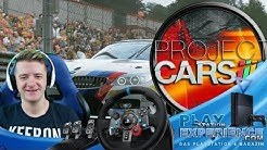 1. Runde mit dem Logitech G29 PS4 / Project Cars / Playstation Experience