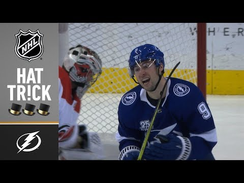 Tyler Johnson nets three for his fourth NHL hat trick