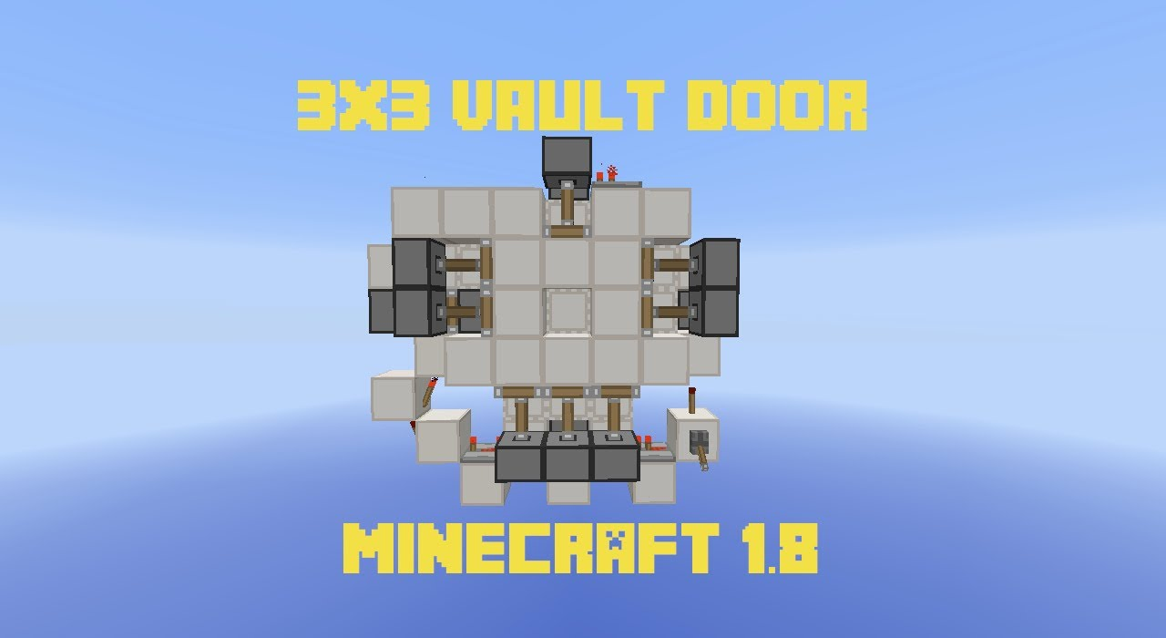 3x3 vault door extremely compact and fast minecraft 1 for Porte 3x3 minecraft