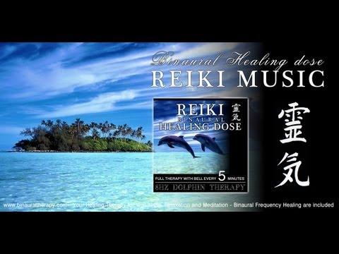 靈氣 Reiki Music Healing: 8hz Dolphin Therapy (Full Binaural 3D Therapy with Bell Every 5 Minutes)
