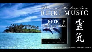 靈氣 Reiki Music Healing: 8hz Dolphin Therapy (Full Binaural 3D Therapy with Bell Every 5 Minutes)