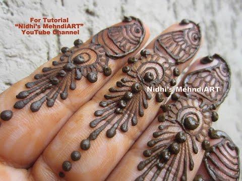 Mehndi Fingers Rating : Quick easy fingers henna mehndi designs tutorial youtube