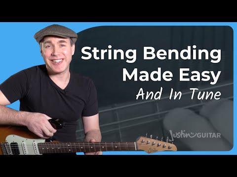 String Bending In Blues Lead Guitar - Mechanics & Technique - Guitar Lesson Tutorial - JustinGuitar