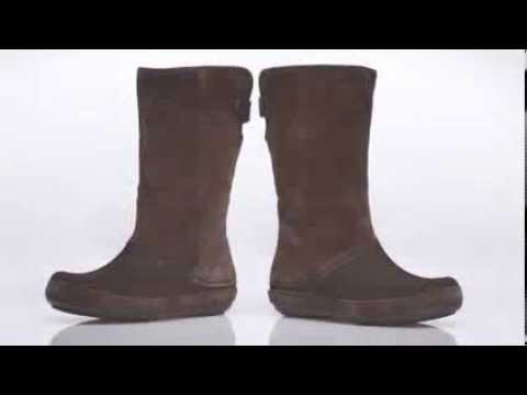 ac1bd2052b Crocs Berryessa Tall Suede Boot - YouTube