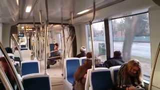 Utazás a DKV 524-es CAF villamosán