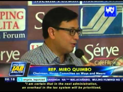 Amendment sa tax reform act, malabo nang maipasa sa kasalukuyang administrasyon – Rep. Miro Quimbo
