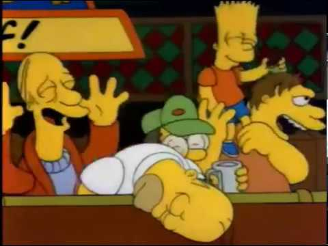 Bart canta la Pollera Colorá- los simpsons Latino