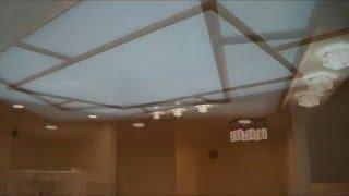 Подвесной потолок с внутренней подсветкой.Оргстекло на металлический каркас.(Как сделать светящий потолок. Подвесной потолок из ГКЛ по периметру а в середине оргстекло на металлически..., 2015-12-07T22:37:29.000Z)