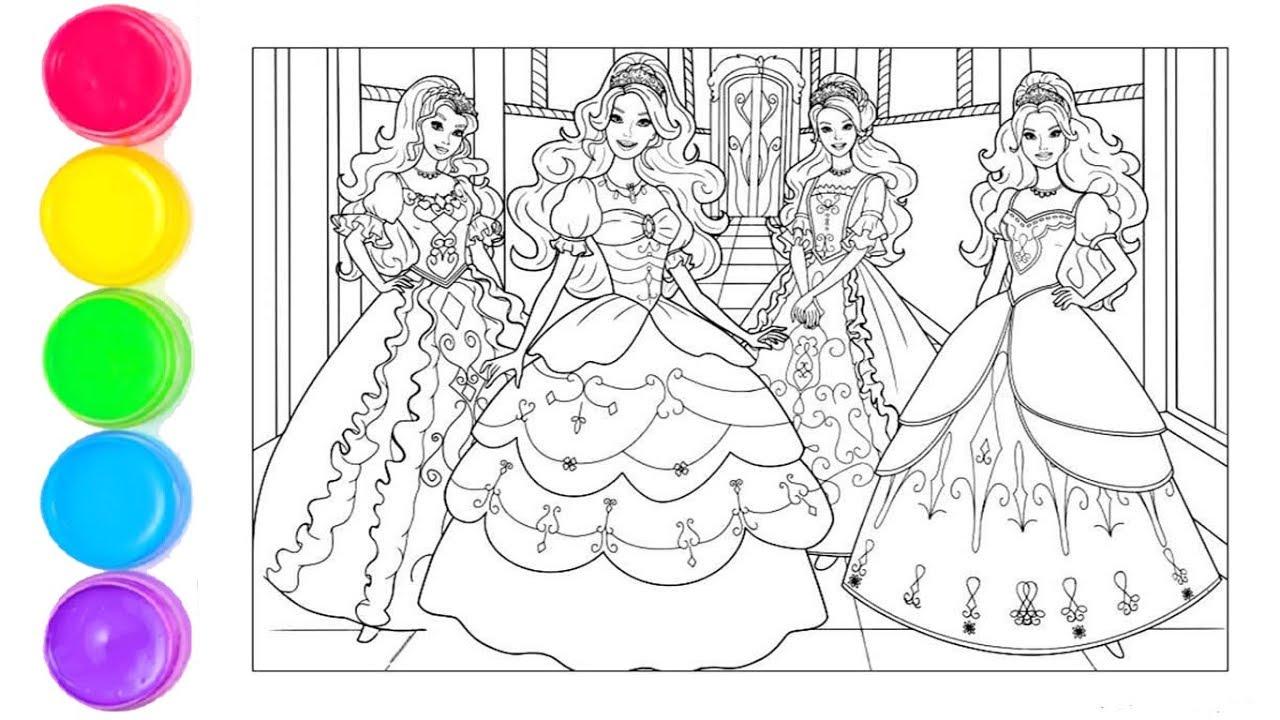 Disney Prensesleri Boyama Barbie Boyama Cocuklar Icin Boyamalar