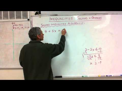 7th Grade:  Inequalities:  Solving and Graphing 12/16/13
