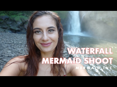 MERMAID SHOOT AT TEGENUNGAN WATERFALL UBUD, BALI (bahasa indonesia)
