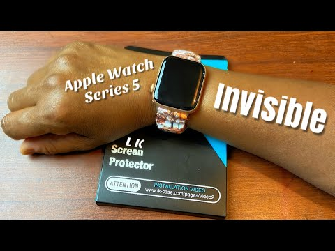 L K Screen Protector (6 pack) for Apple Watch Series 5 Unboxing / How To