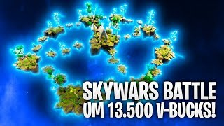 SKYWARS BATTLE um 13.500 V-BUCKS! 🌈🌦 | Fortnite: Battle Royale
