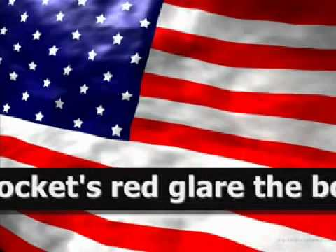 Amerikanische Nationalhymne mit lyrics