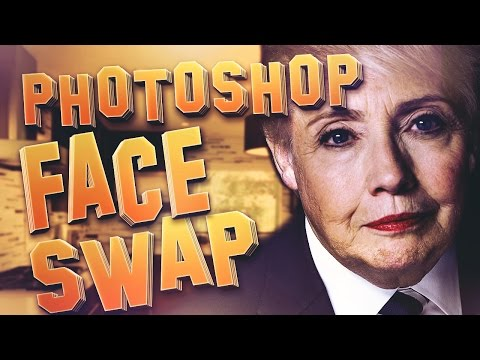 HOW TO FACE SWAP IN PHOTOSHOP!! (CC/CS6/CS5) Hillary Clinton & Donald Trump Edition!