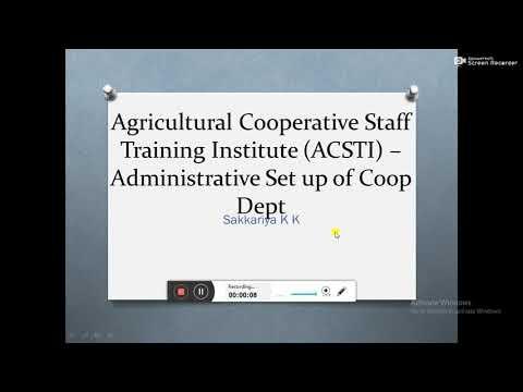 ACSTI- Administrative  Set up of Coop Dept