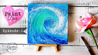 PAINT DATE Ep:1 /Easy Technique to paint Waves for Beginners