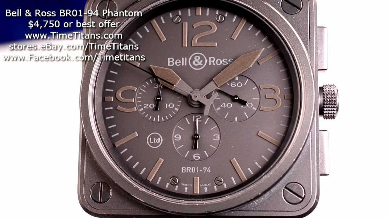 Bell Ross Br01 94 Phantom Chronograph Limited 46mm Pvd